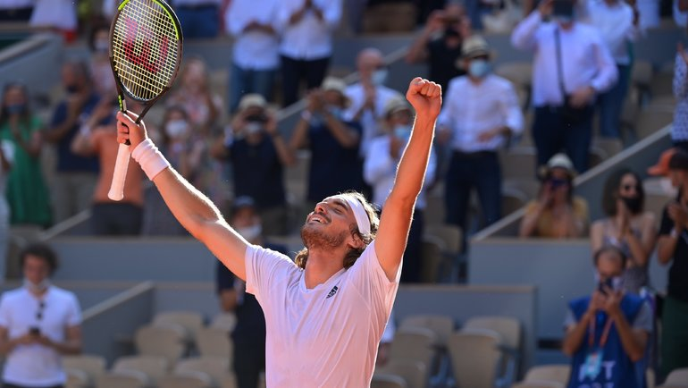 Cтефанос Циципас. Фото Roland Garros
