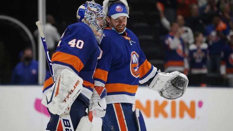 Семен Варламов иИлья Сорокин. Фото USA Today Sports