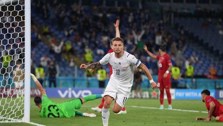 11 июня. Турция— Италия. Чиро Иммобиле забивает второй гол. Фото AFP