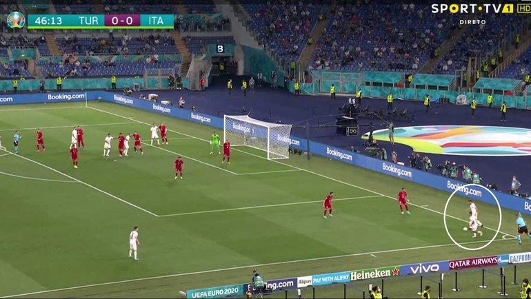 Эпизод матча Турция— Италия.