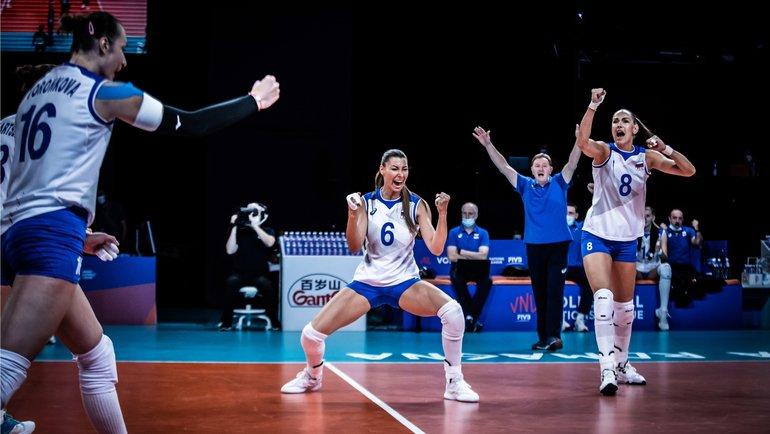 Женская сборная России обыграла Корею вЛиге наций. Фото vk.com/rusvolleyteam
