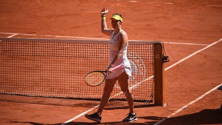 Анастасия Павлюченкова. Фото Roland Garros