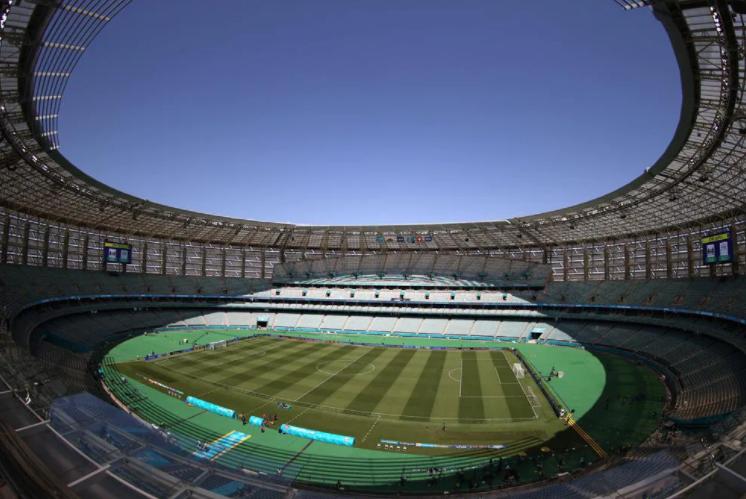 «Олимпийский» вБаку перед матчем. Фото uefa.com