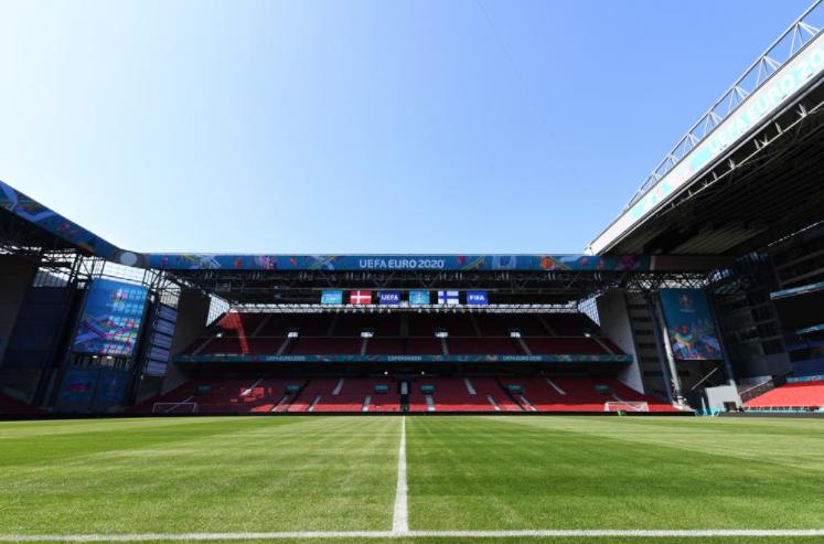Стадион «Паркен» перед матчем. Фото УЕФА