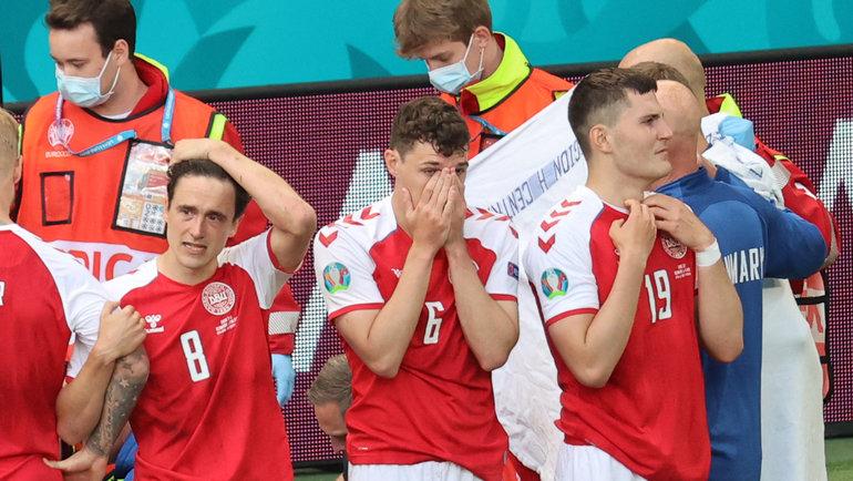 12июня. Копенгаген. Дания— Финляндия. Фото AFP