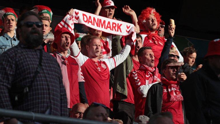 12июня. Копенгаген. Болельщики сборной Дании. Фото AFP