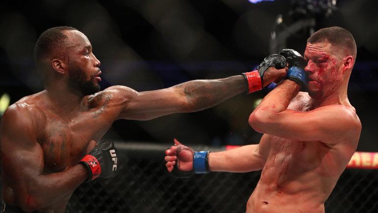 Нейт Диас проиграл Леону Эдвардсу единогласным решением судей. Фото USA Today Sports