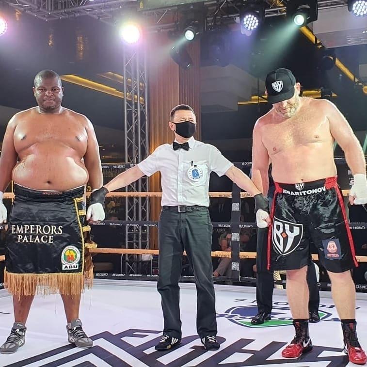 Сергей Харитонов (справа) нокаутировал Осборна Мачиману. Фото Instagram