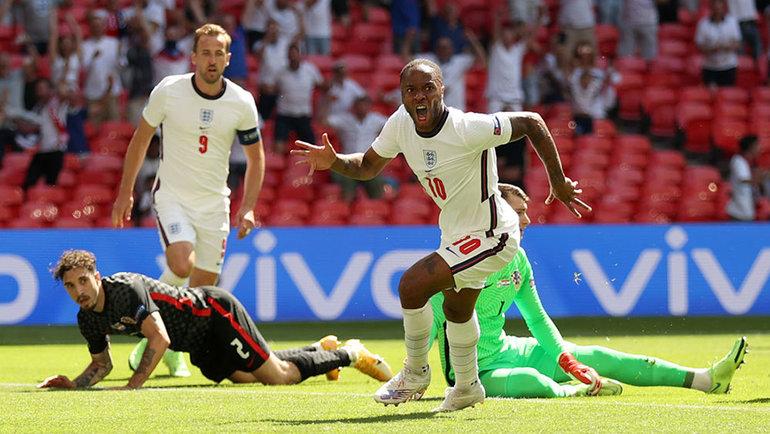 13июня. Англия— Хорватия— 1:0. Рахим Стерлинг празднует гол. Фото Getty Images