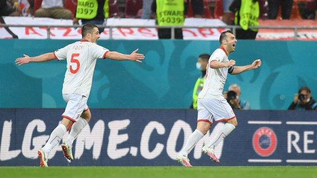 Горан Пандев забил гол вматче Австрия— Македония. Фото Twitter
