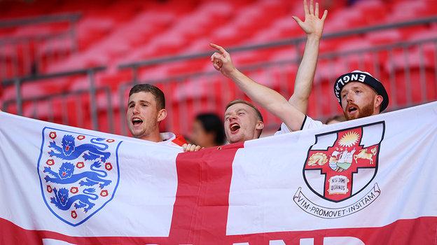 Английские болельщики наматче Англия— Хорватия. Фото Reuters