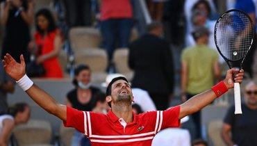 Джокович обыграл Циципаса вфинале Roland Garros