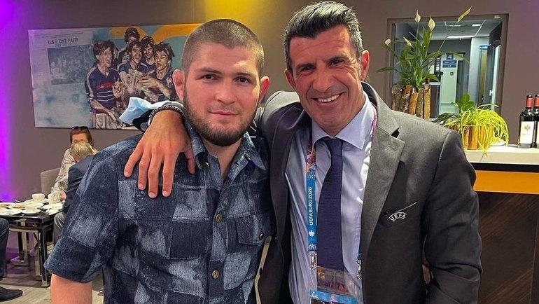 Хабиб Нурмагомедов (слева) иЛуиш Фигу. Фото Instagram