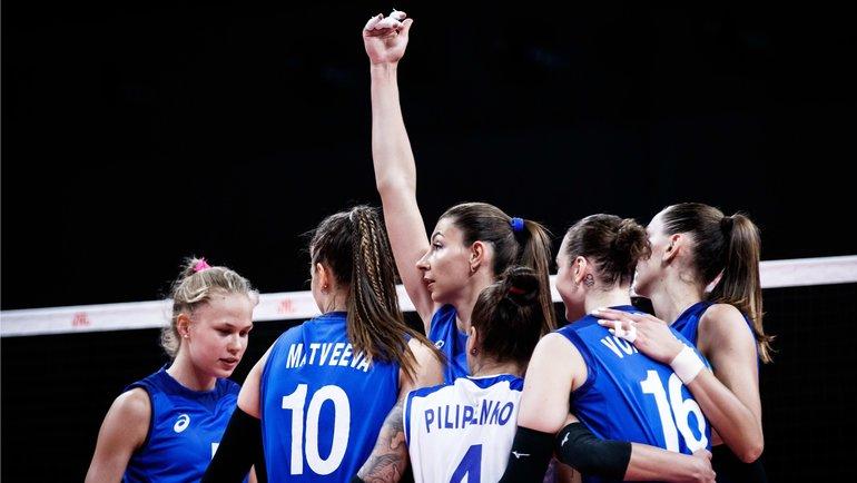 Женская сборная России победила Сербию вЛиге наций.
