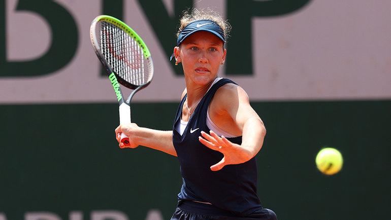 Эрика Андреева вфинале юниорского «Ролан Гаррос». Фото Getty Images
