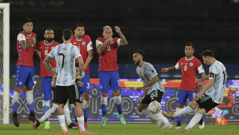 15июня. Аргентина— Чили. Гол Лионеля Месси. Фото Twitter