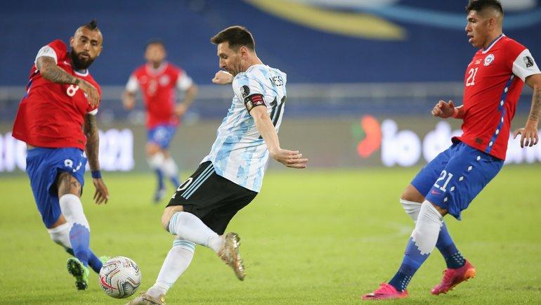 15июня. Кубок Америки. Аргентина— Чили— 1:1. Фото Twitter