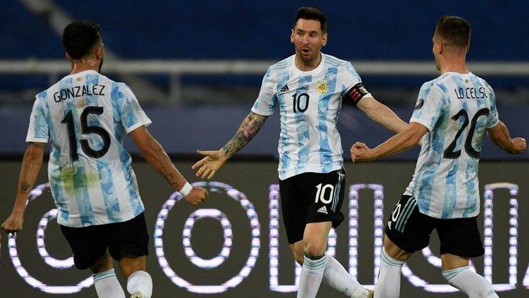 15июня. Кубок Америки. Аргентина— Чили— 1:1. Фото AFP