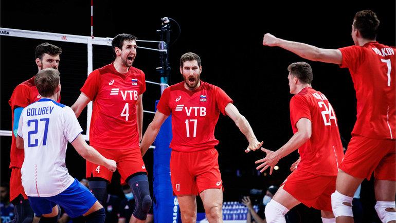 Сборная России обыграла Сербию вЛиге наций. Фото volleyballworld.com