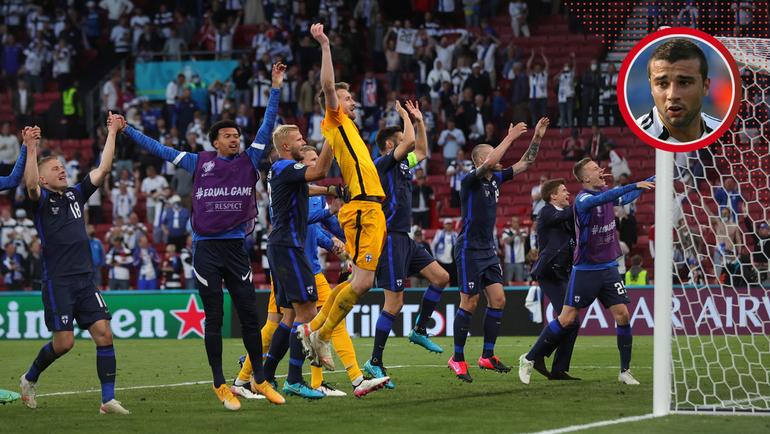 Футболисты сборной Финляндии. Фото AFP