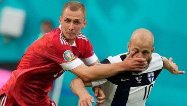 16июня. Санкт-Петербург. Финляндия— Россия— 0:1. Дмитрий Баринов (слева).
