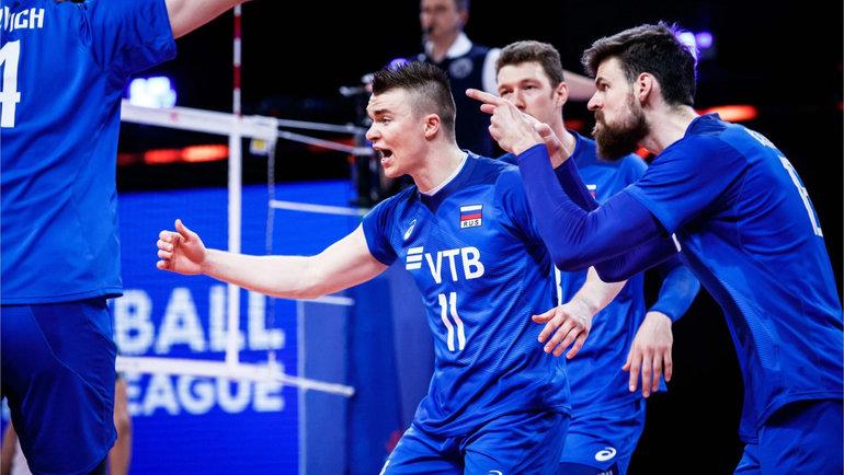 Мужская сборная России победила Аргентину. Фото ВФВ