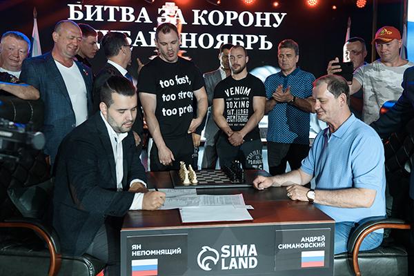 ЯнНепомнящий иАндрей Симановский. Фото Пресс-служба «Сима-ленд»