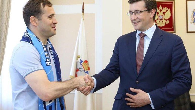 Глеб Никитин (справа) иАлександр Кержаков. Фото Instagram