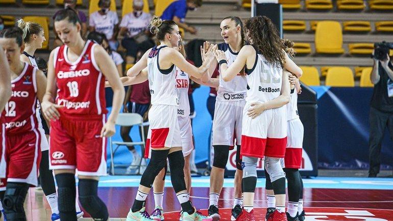 Россия— Чехия— 73:69. Фото FIBA