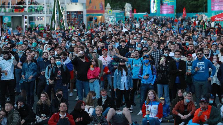 Фан-зона Евро-2020 вСанкт-Петербурге. Фото Александр Федоров, «СЭ» / Canon EOS-1D X Mark II
