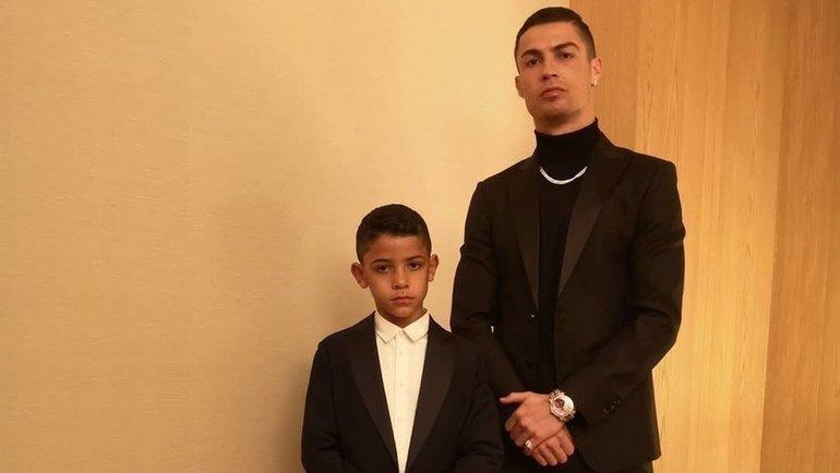Криштиану Роналду с сыном. Фото Instagram