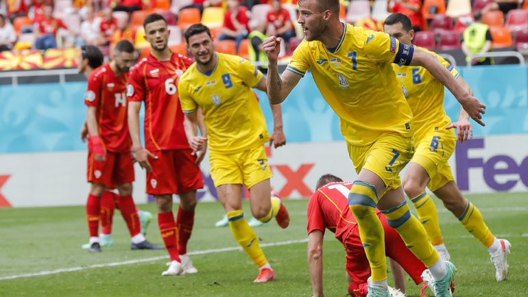 Украина— Северная Македония— 2:1. Фото AFP