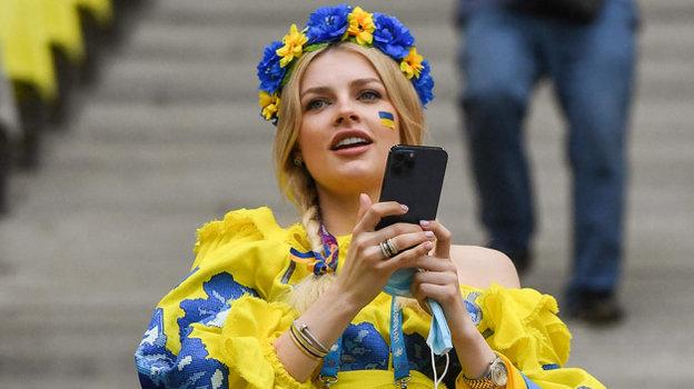 17июня. Бухарест. Украина Северная Македония— 2:1. Болельщица сборной Украины.