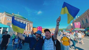 17июня. Санкт-Петербург. Болельщики сборной Украины.