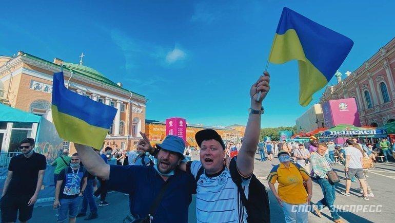 17июня. Санкт-Петербург. Болельщики сборной Украины. Фото Севастиан Терлецкий, «СЭ»