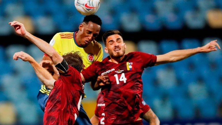 Колумбия иВенесуэла сыграли вничью. Фото Официальный Twitter Кубка Америки