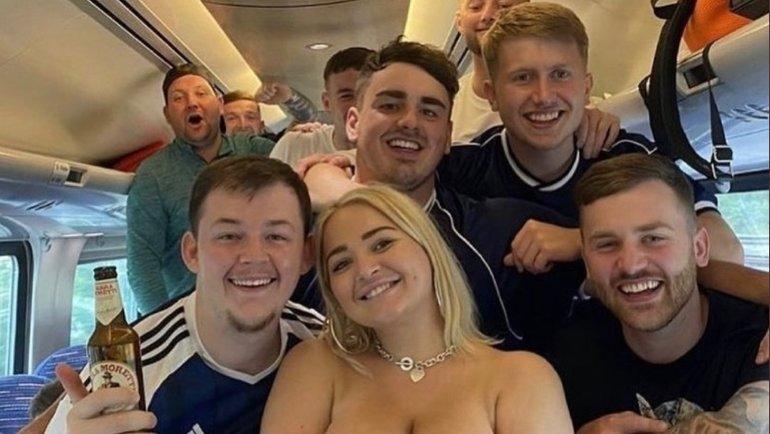 Что творят шотландские фанаты перед матчем Евро-2020 против Англии. Фото Twitter