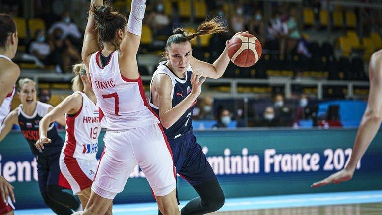 18июня. Страсбург. Россия— Хорватия— 73:62. Смячом— Мария Вадеева. Фото РФБ, vk.com/russiabasket