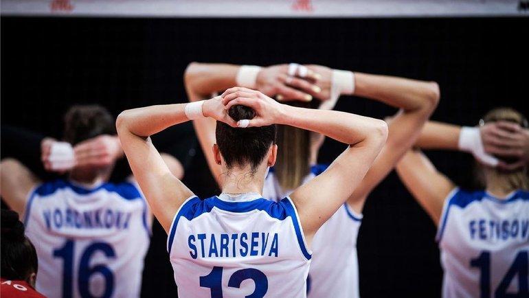 Волейболистки сборной России. Фото volleyballworld