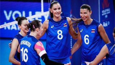 Женская сборная России проиграла США вматче Лиги наций.