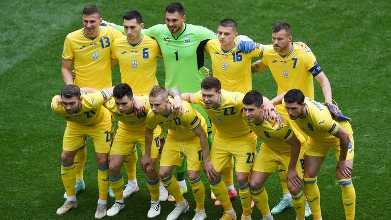 Футболисты сборной Украины. Фото AFP
