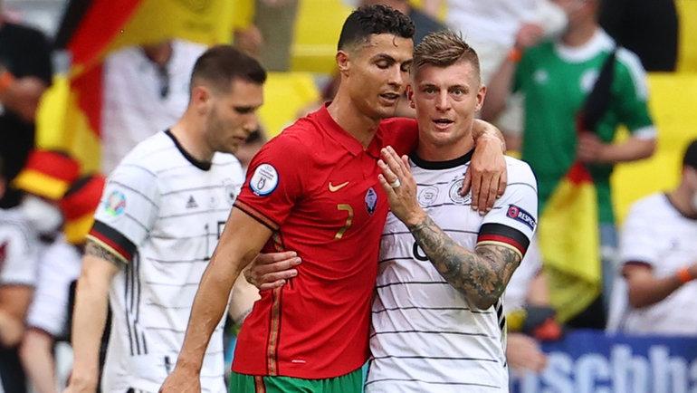 19июня. Мюнхен. Португалия— Германия— 2:4. Криштиану Роналду иТони Кроос.