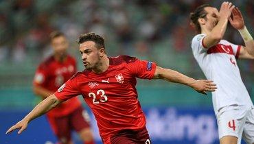 Дубль Шакири принес Швейцарии победу над Турцией