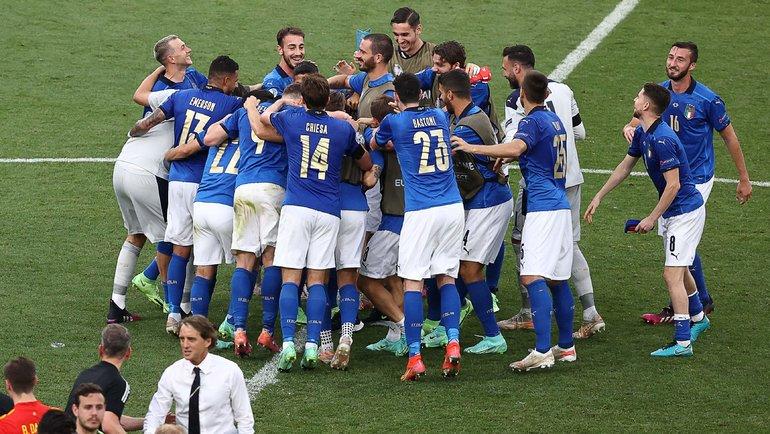 20июня. Рим. Италия— Уэльс— 1:0. Итальянская сборная непроигрывает 30 матчей подряд. Фото AFP