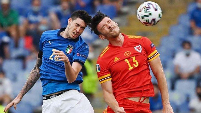 20июня. Рим. Италия— Уэльс— 1:0. Алессандро Бастони иКиффер Мур.