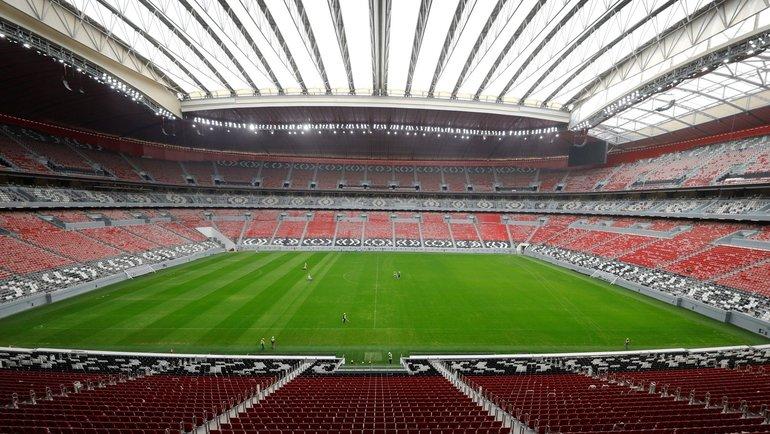 Стадион в Дохе, где пройдут матчи ЧМ-2022. Фото Reuters