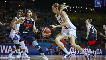 Женская сборная России проиграла команде Франции наЕвробаскете
