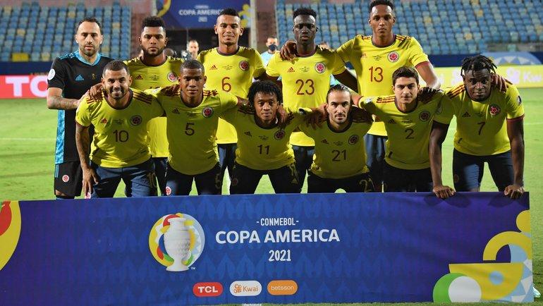 Сборная Колумбии. Фото Twitter