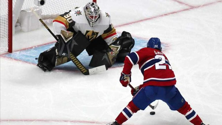 21июня. «Монреаль»— «Вегас»— 1:2 ОТ. Голкипер «Рыцарей» Роберт Ленер. Фото USA Today Sports