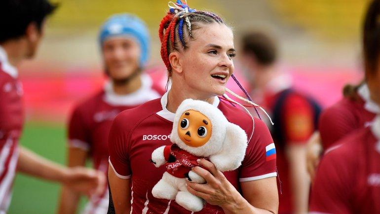 Игрок женской сборной России порегби Алена Тирон. Фото Getty Images